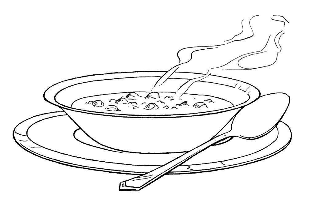 1009x650 Vegetable Soup Coloring Pages Food, Drink And Cooking Coloring