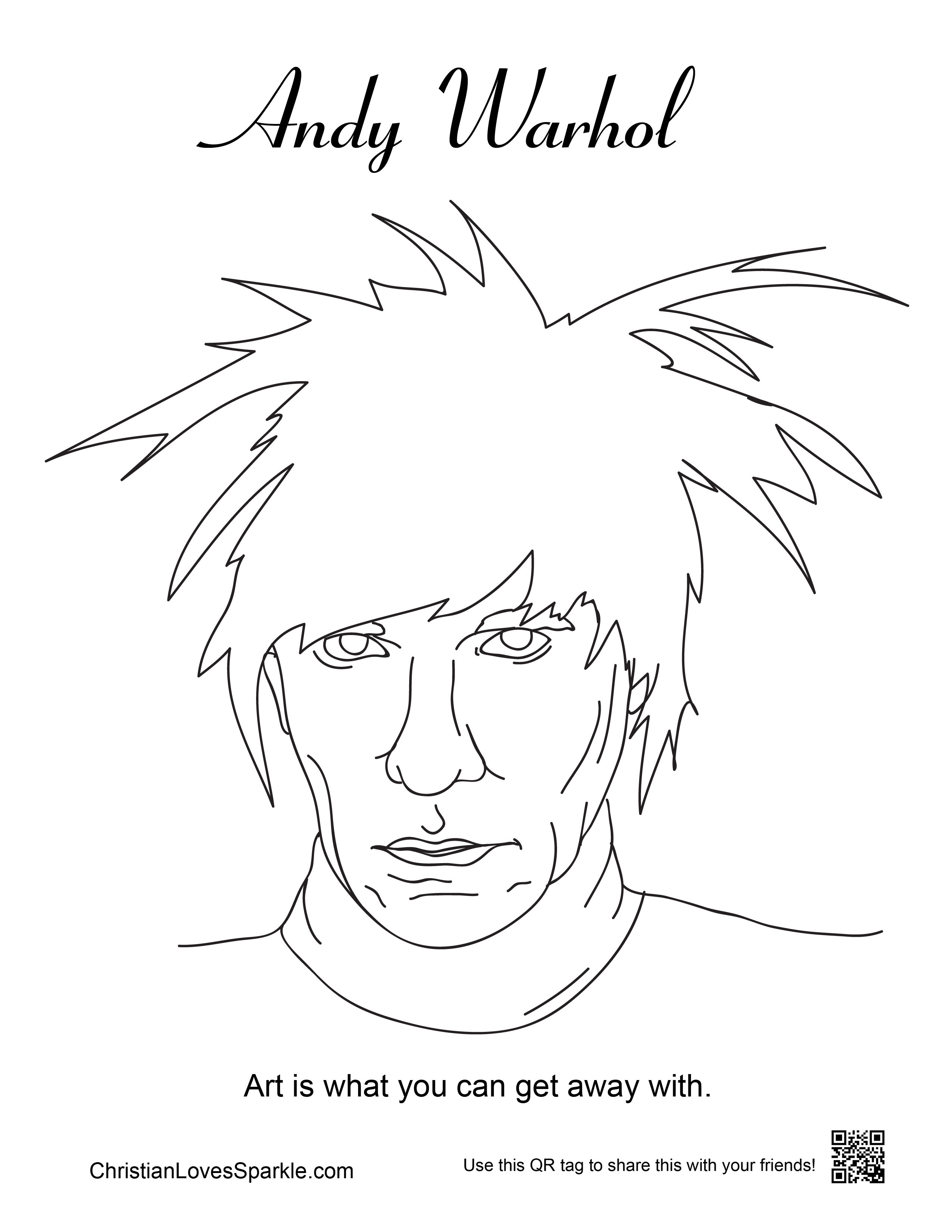 2550x3300 Cool Ideas Andy Warhol Coloring Pages For Kids Soup Can Printable