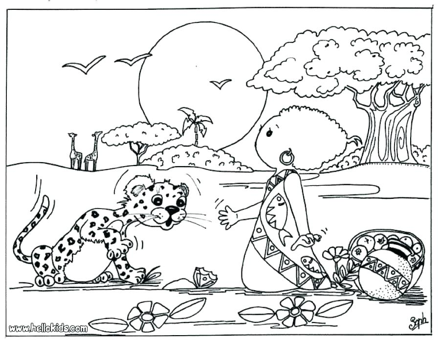 900x700 Africa Coloring Pages Mask Coloring Page African Wildlife