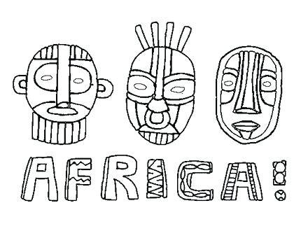 440x330 Map Of Africa Coloring Page Coloring Pages Coloring Pages Color