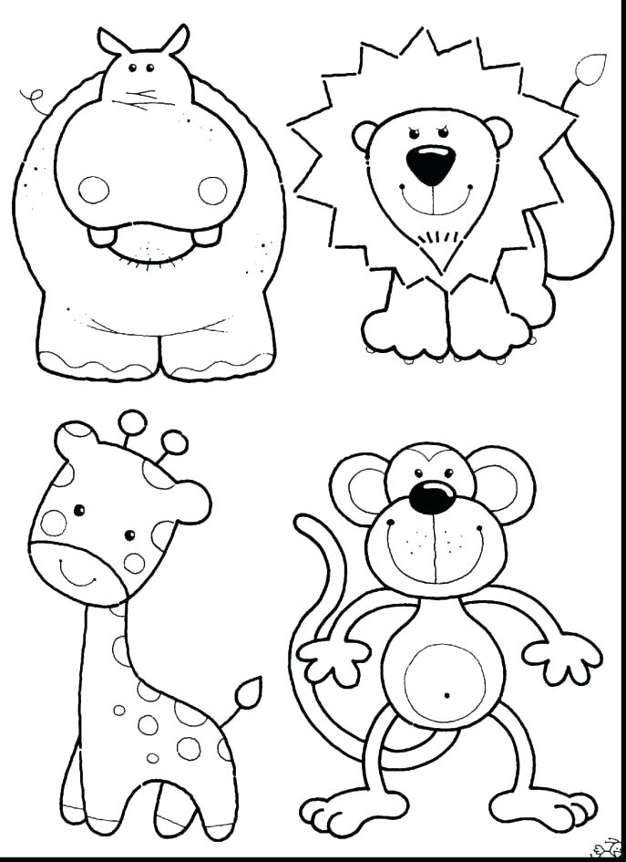 687x945 South African Animals Coloring Pages