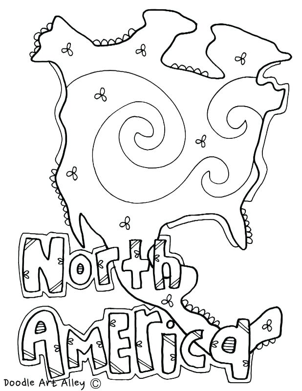 618x800 Coloring Page Of North And South America Map Clip Art S