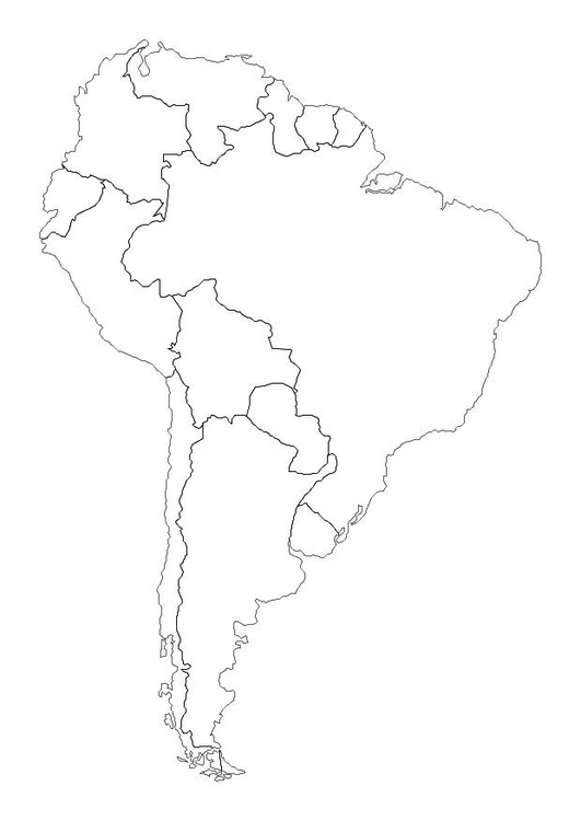 531x750 Coloring Page South America