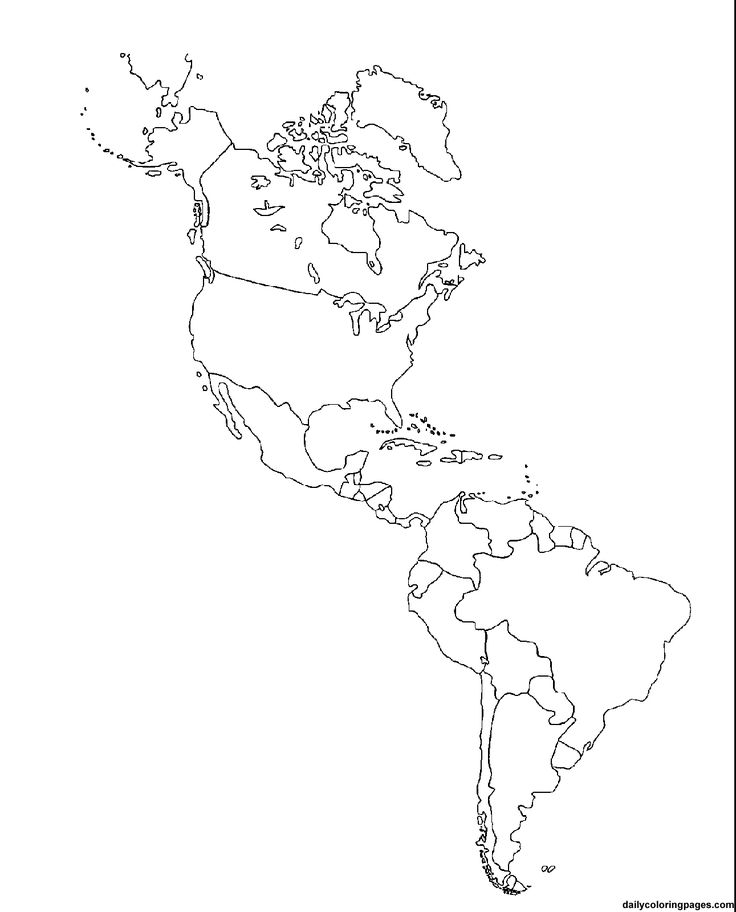 736x912 North America Map Coloring Page Unlabeled Of Ameri On Latin