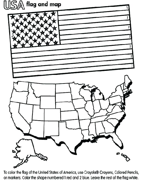 601x762 Usa Flag Coloring Pages Blank Flag To Color Click The Flag