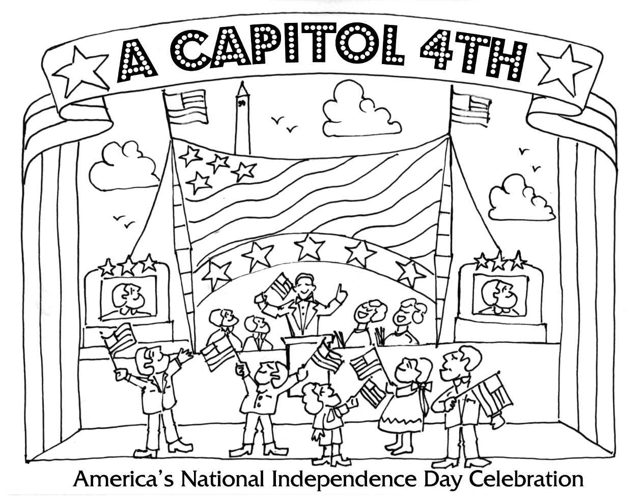 1263x975 Fourth Of July Coloring Pages A Capitol Fourth Pbs