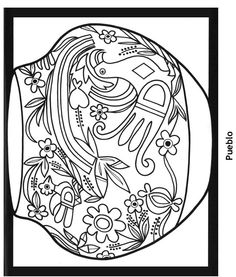 236x277 Southwestern Coloring Page Coloring Southwest Native