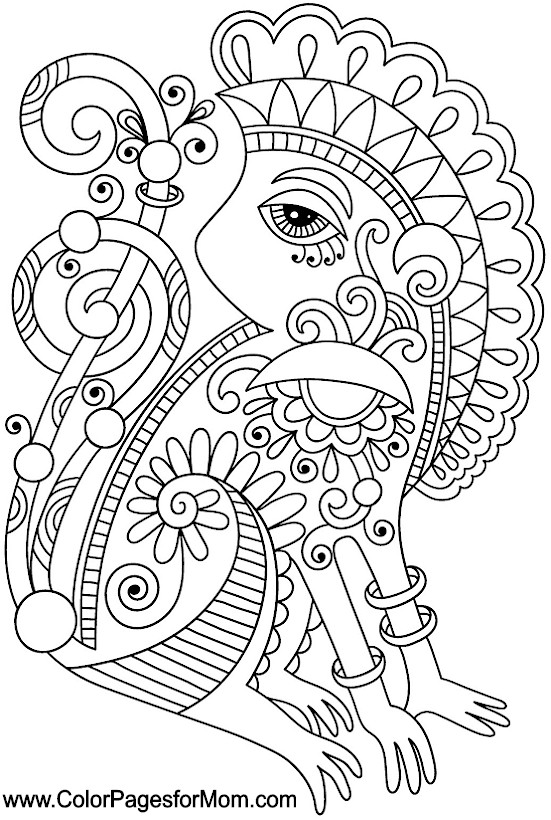 551x820 Southwestern Native American Coloring Page