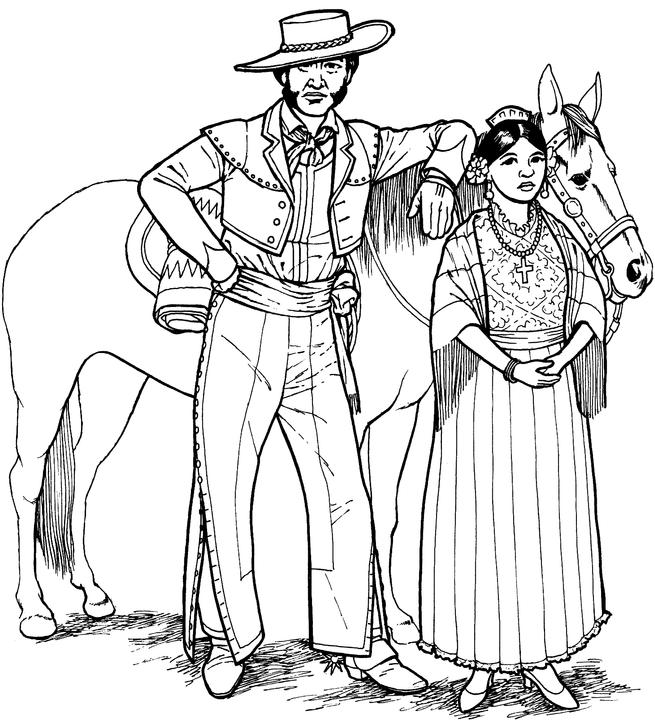 655x720 Southwestern Native American Coloring Page