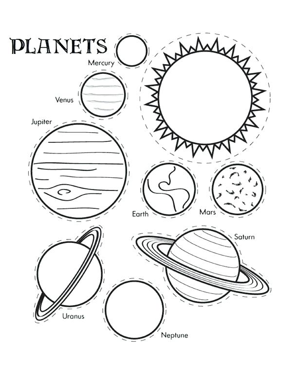 600x776 Outer Space Coloring Page Solar System Craft Childrens Outer Space