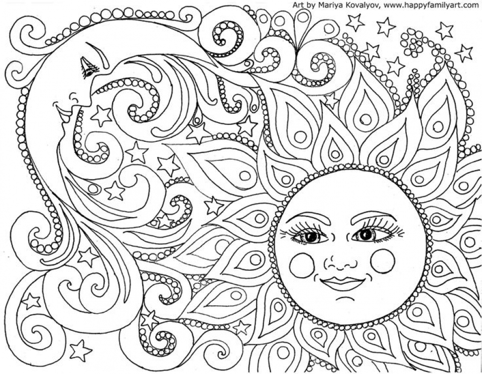 Space Coloring Pages For Adults
