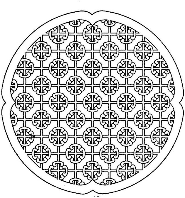 630x675 Space Circle Free Printable Adult Coloring Pages