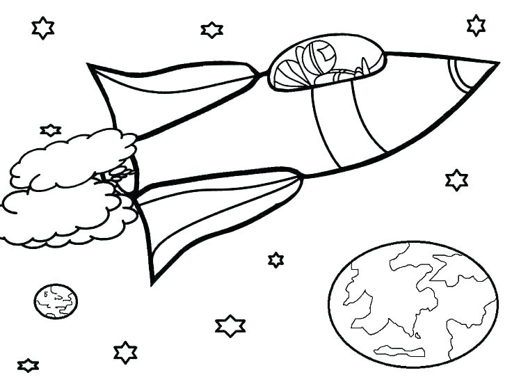 736x552 Space Coloring Page