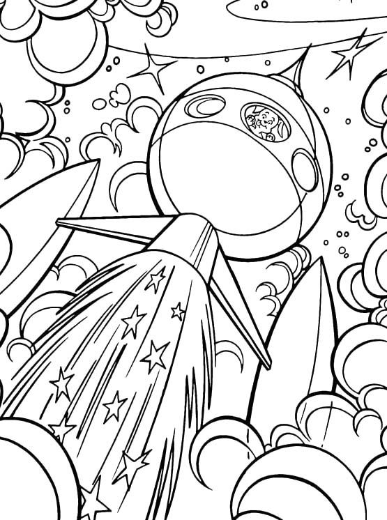 555x746 Krypto The Dog Go Into Outer Space Coloring Pages
