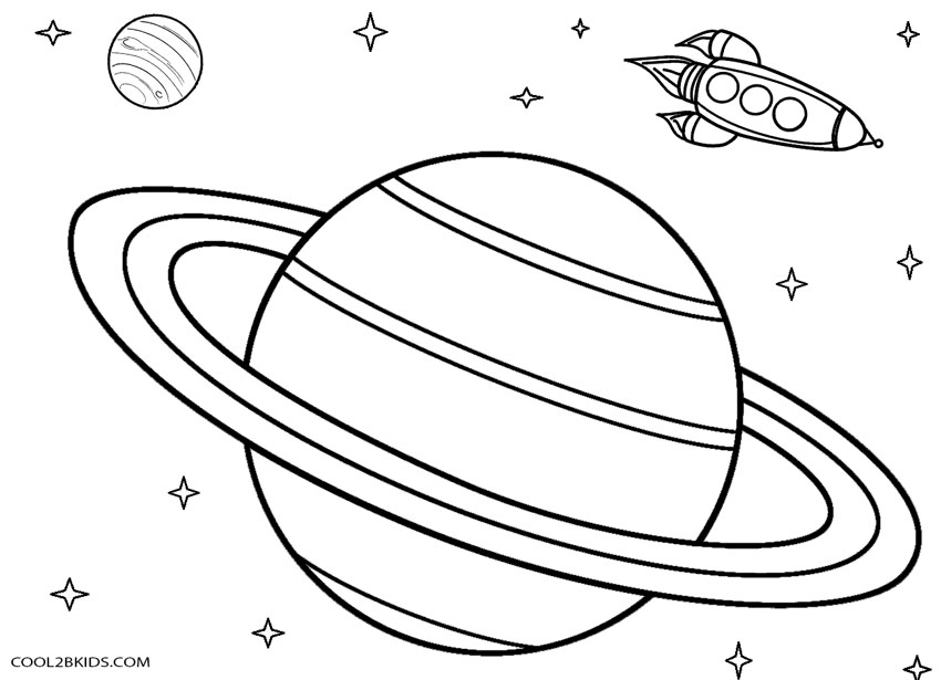 850x615 Printable Planet Coloring Pages For Kids