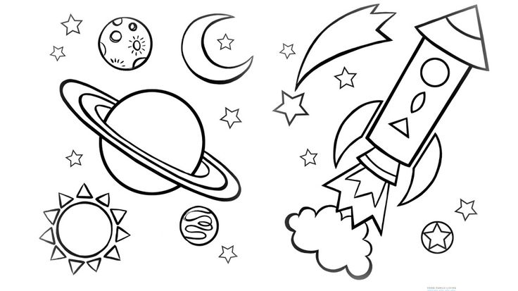 736x413 Space Coloring Pages For Preschoolers Astronomy Coloring Pages