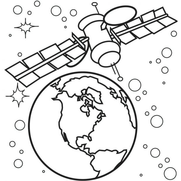 618x618 Free Printable Space Coloring Pages