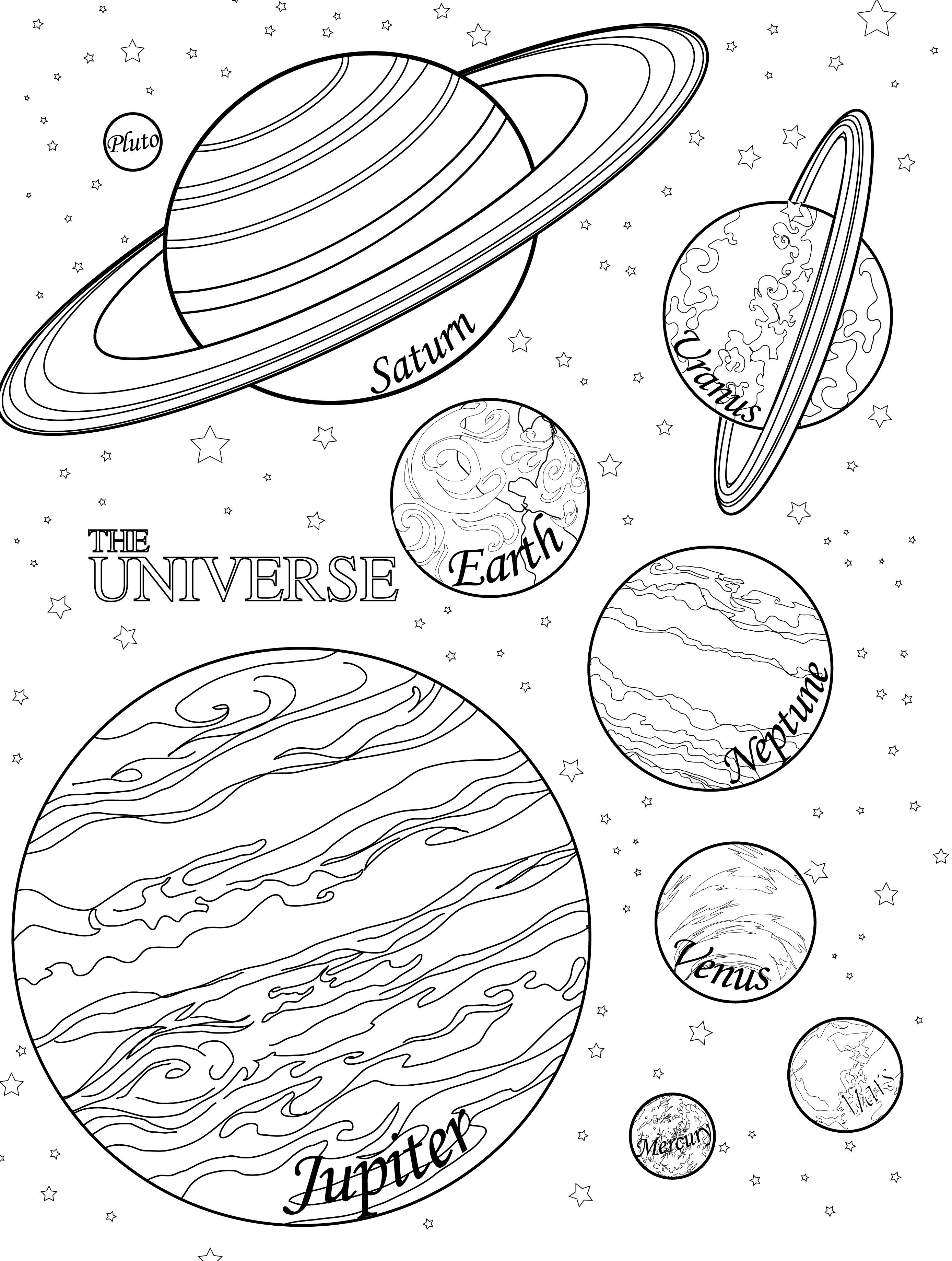 2775x3675 Free Printable Planet Coloring Pages Jos Gandos Coloring Pages