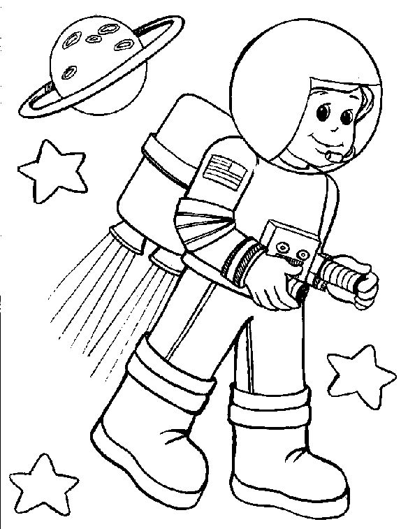 Space Coloring Pages For Preschoolers