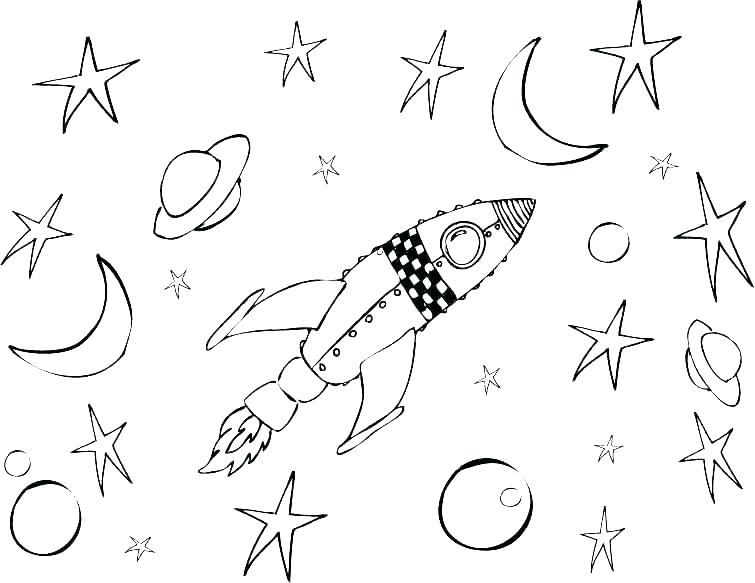 755x583 Space Coloring Page Coloring Pages Space Space Coloring Pages