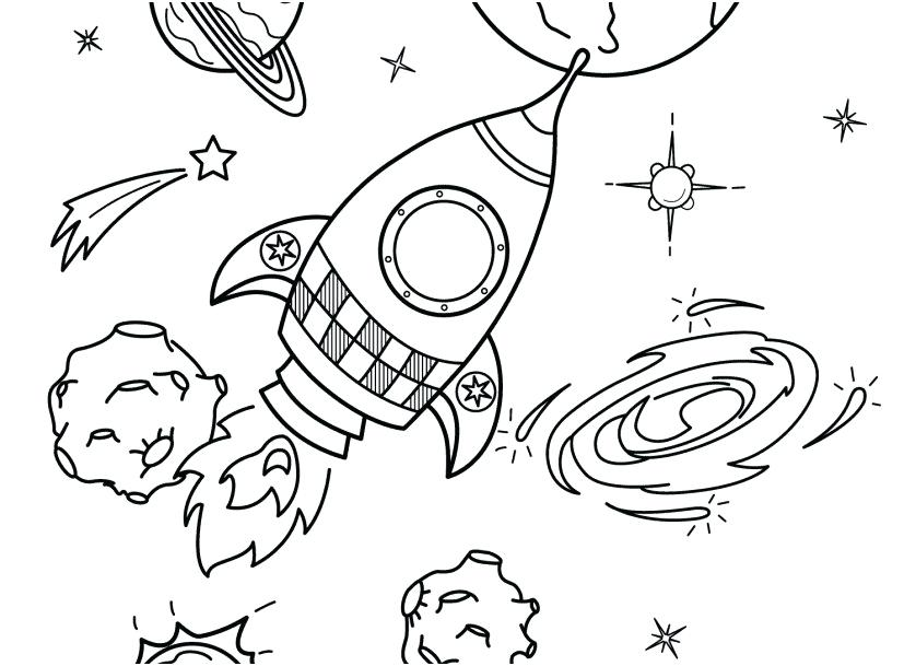 827x609 Solar System Coloring Pages For Toddlers