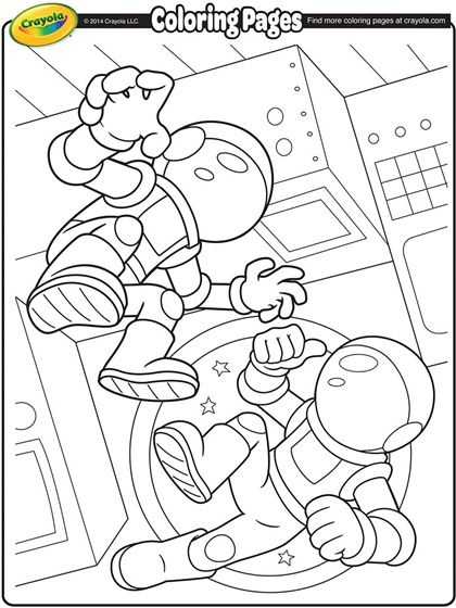 Space Coloring Pages Free Printable