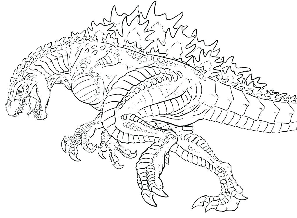 1024x752 Godzilla Coloring Pages Coloring Book Pages Ultimate Space
