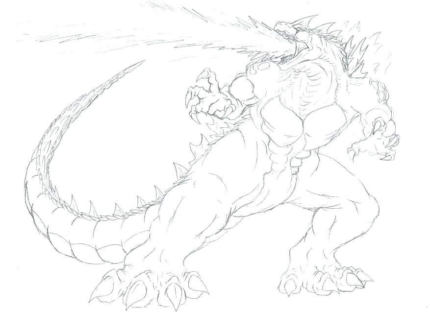 877x637 Godzilla Coloring Pages Coloring Pages Pictures Treatment Space