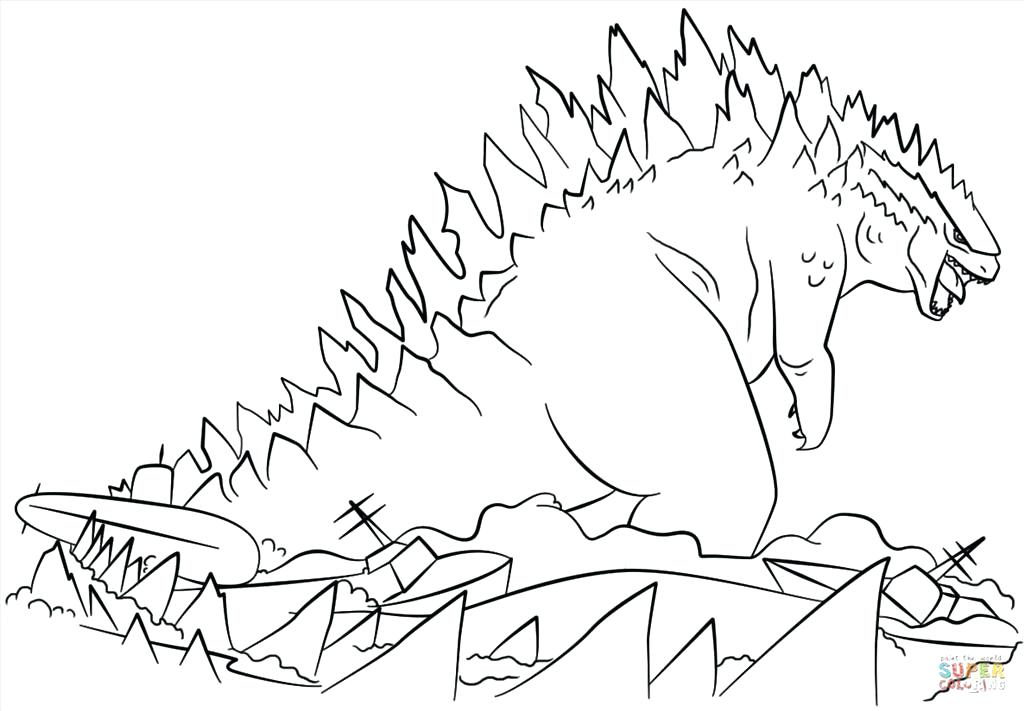 1024x711 Godzilla Coloring Pages Great Coloring Pages Photo Space Godzilla