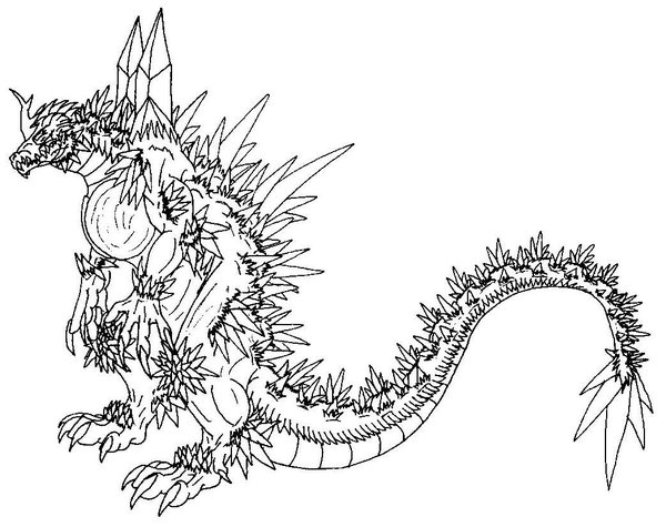 600x475 Godzilla Coloring Pages Space Godzilla Coloring Pages Kids