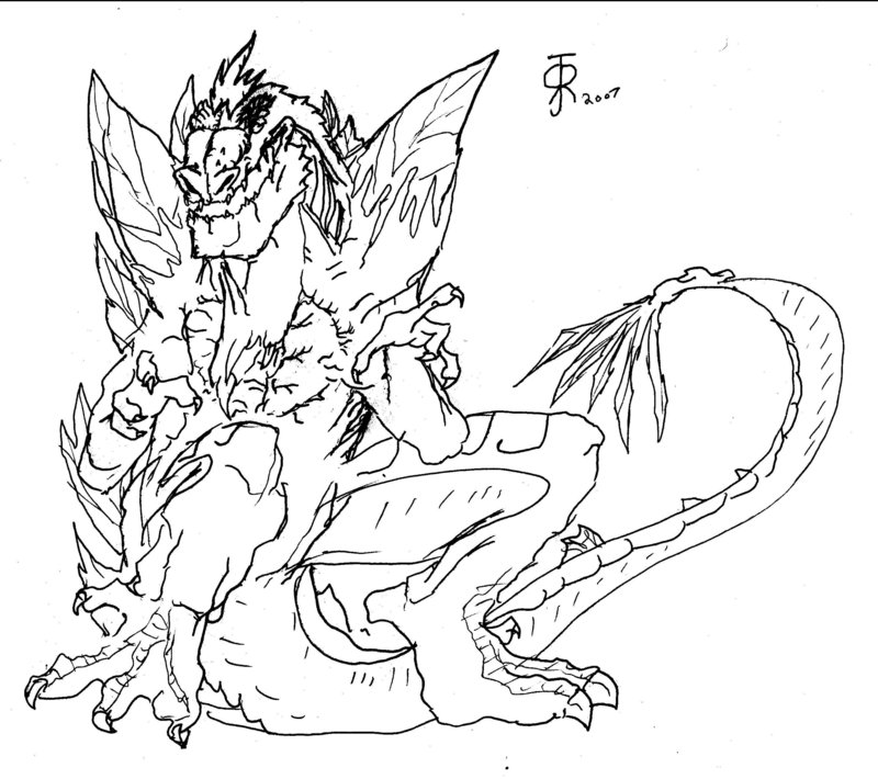 800x710 Space Godzilla Coloring Pages Ultimate Space Godzilla Coloring