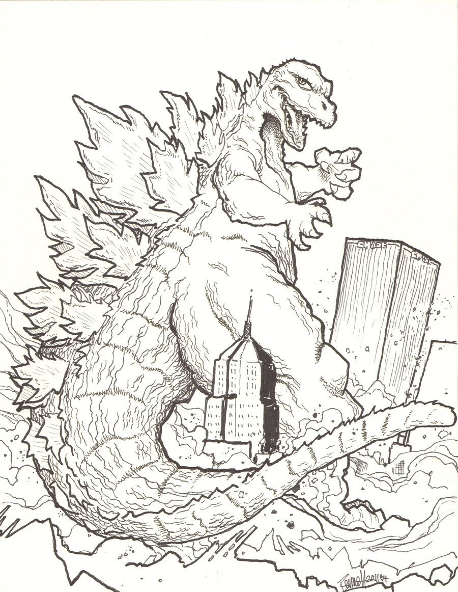 900x1162 Godzilla Coloring Pages Godzilla Godzilla