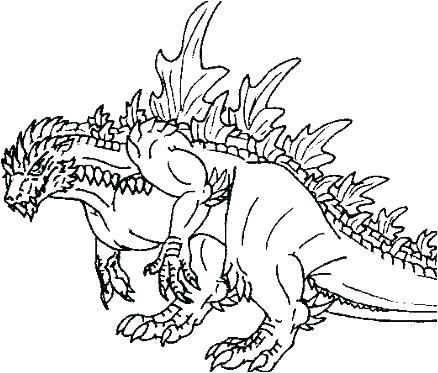 438x373 Godzilla Coloring Pages