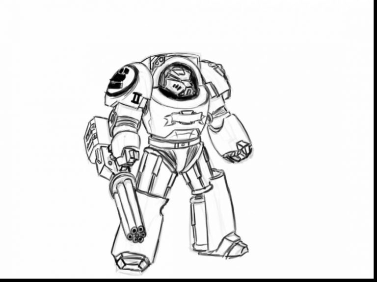 768x576 Coloring Pages For Usmc Best Of Marvelous Space Marine With Robot