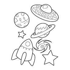 230x230 Best Spaceship Coloring Pages For Toddlers