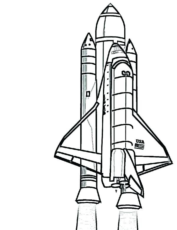 Space Ship Coloring Pages at GetDrawings | Free download
