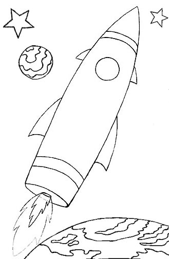 329x504 Space Ship Coloring Pages