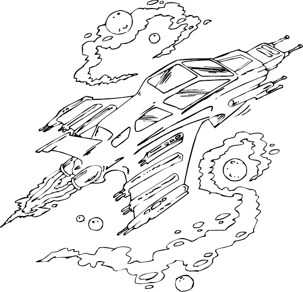 607x585 Spaceship Coloring Page Coloring Pages For Free