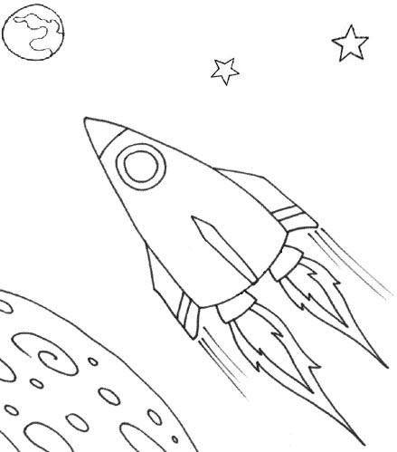 439x499 Drawn Spaceship Coloring Page