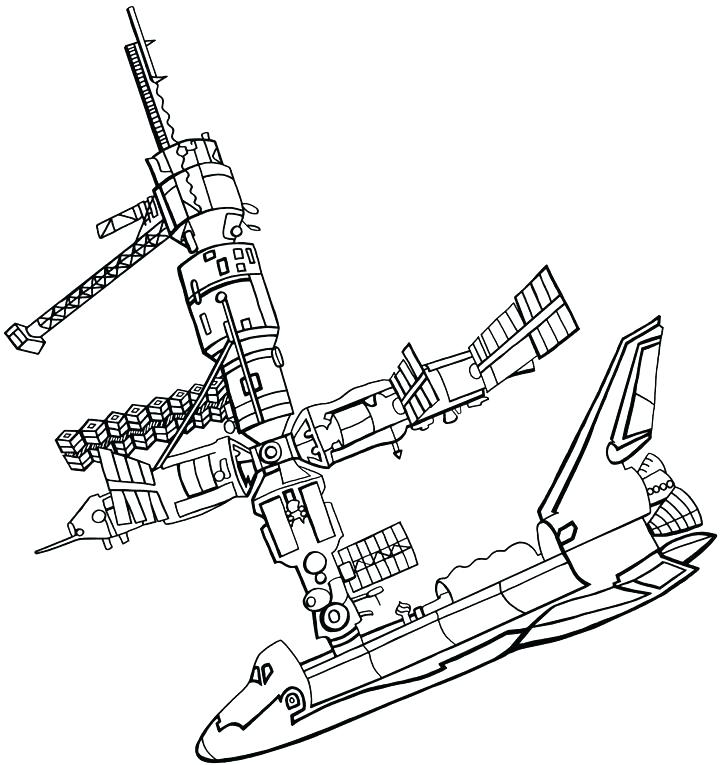 720x765 Space Shuttle Coloring Page