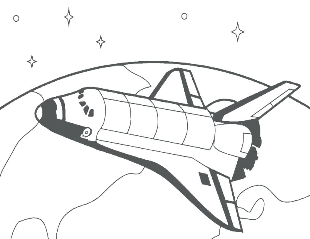 1024x791 Best Spaceship Coloring Page Coloring In Pretty Space Shuttle