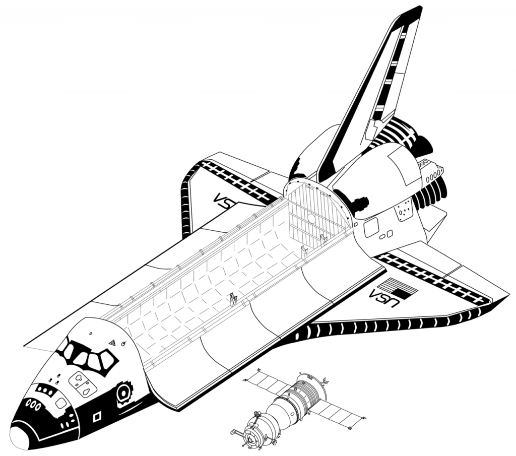1024x905 Space Shuttle Coloring Pages