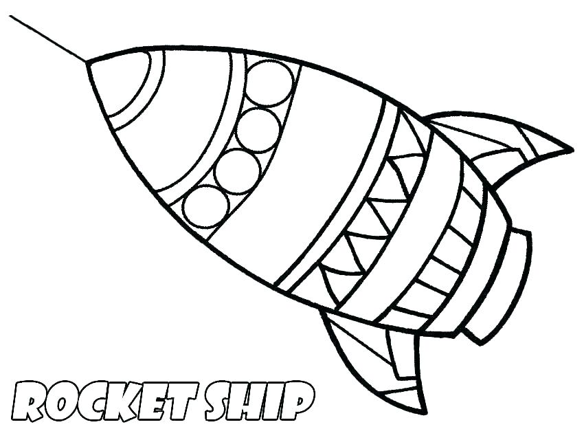 850x640 Space Ship Coloring Pages