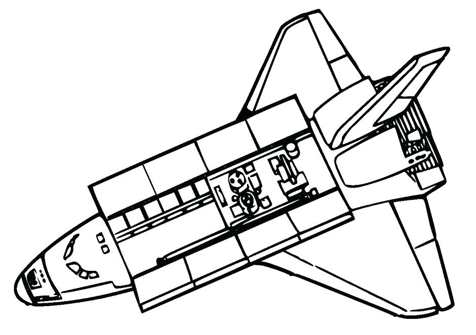 940x663 Space Shuttle Coloring Page