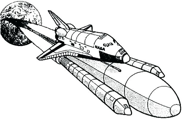 610x400 Coloring Pages Space Space Shuttle Coloring Page Space Coloring