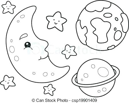 450x360 Outer Space Coloring Page Space Shuttle Coloring Space Coloring