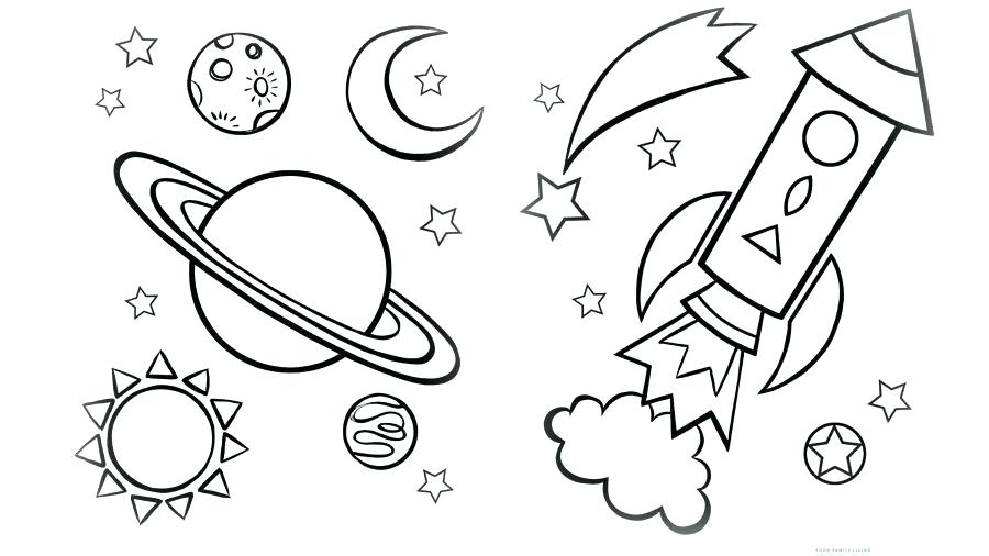 Space Themed Coloring Pages At Getdrawings Free Download