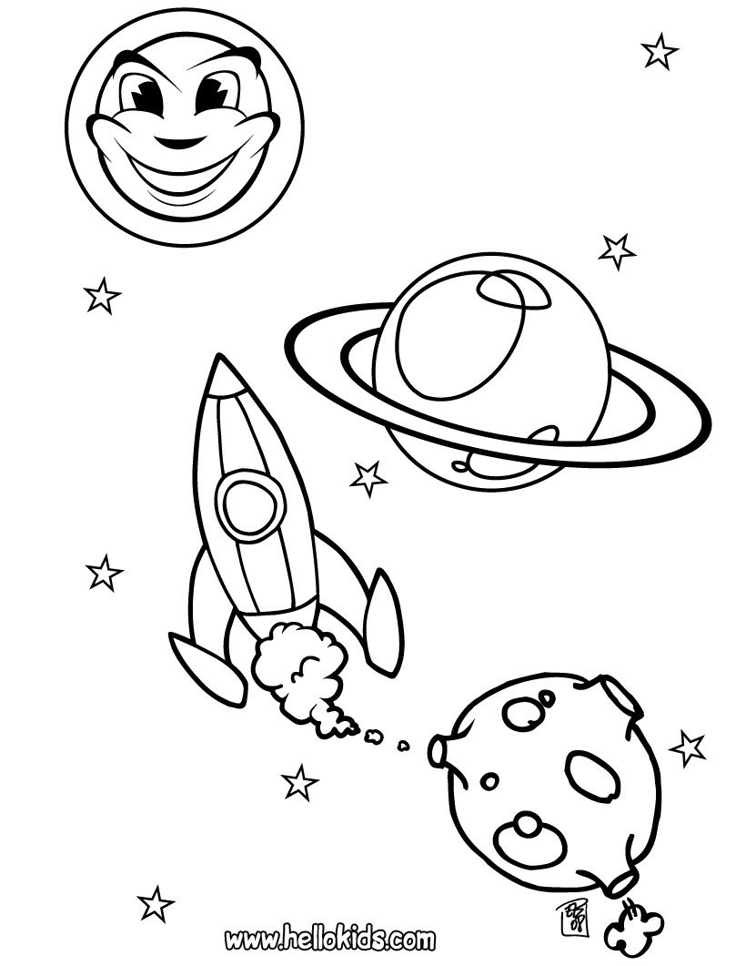820x1061 Spacecraft Coloring Pages