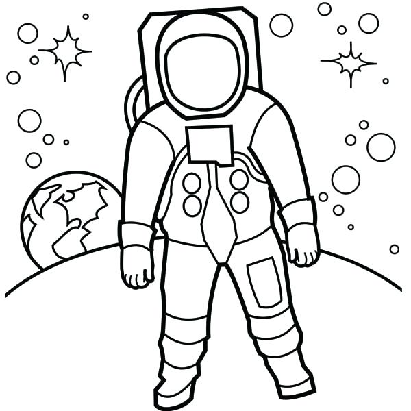 600x600 Astronaut Coloring Pages Astronaut Coloring Pages Astronaut