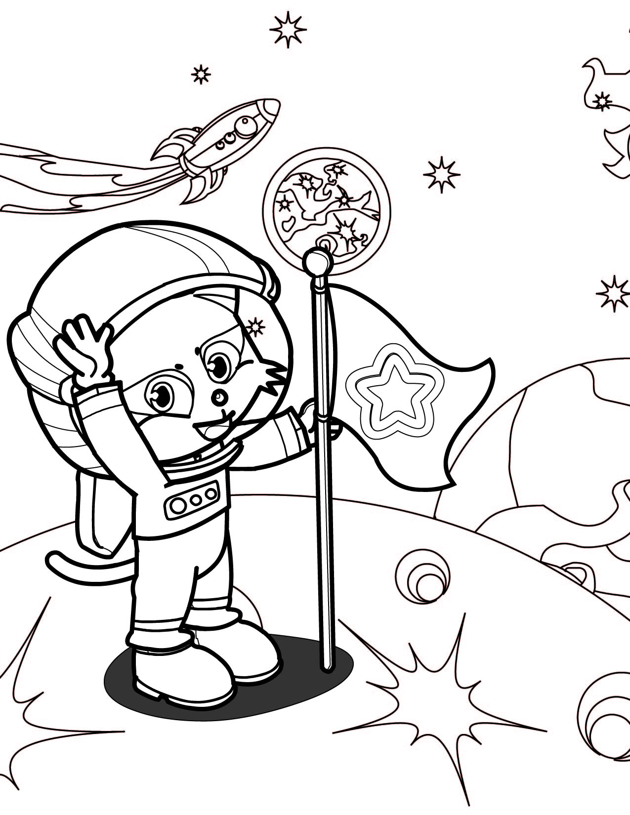 1275x1650 Astronaut Coloring Page Handipoints Astronaut Coloring Pages Print